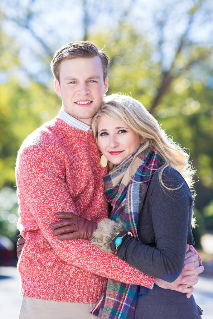 Fall Couple Photo Session with Scarf and Sweater | www.hannahandrandall.com