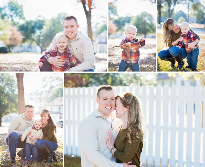 Fall Family Photo Session in the Leaves | www.hannahandrandall.com